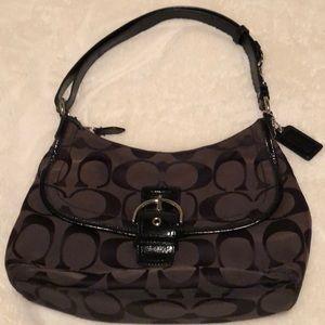Coach signature convertible handbag